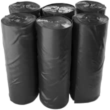 Reli. 33 Gallon Trash Bags Star Seal High Density Heavy Duty Can Liners Bulk Trash Bags Black