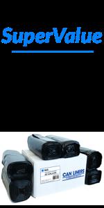 Reli. SuperValue Easy Grab Trash Bags, 55-60 Gallon (150 Count, Black) - Super High Density