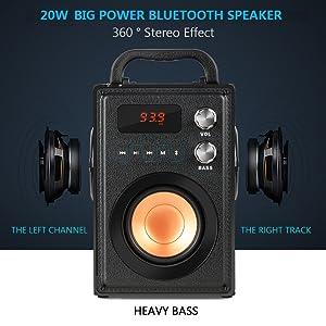 20W Big Power Bluetooth Speaker
