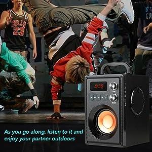 Portable speaker outdoor