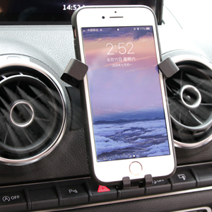 GTINTHEBOX Smartphone Cell Phone Mount Holder with Adjustable Air Vent Clip Cover for 2014 2015 2016 2017 2018 Audi A3 3.5-6.0 Inches Phone