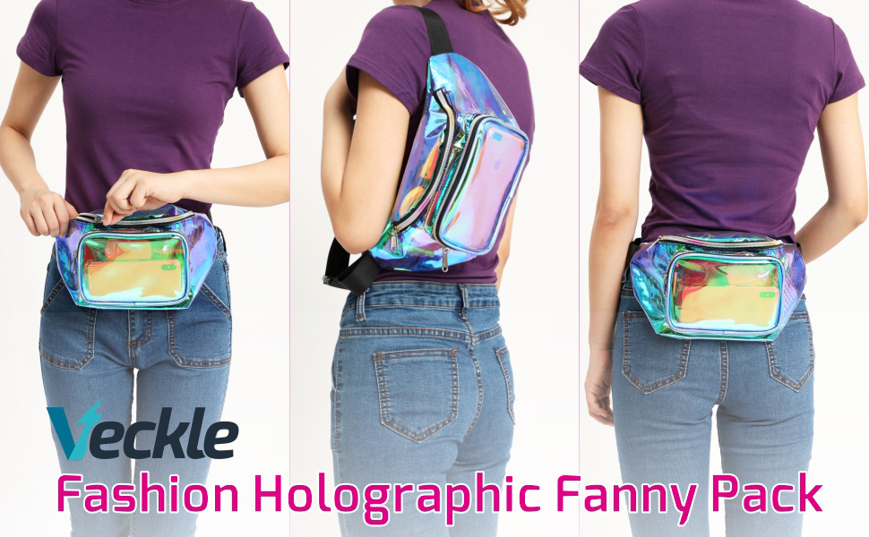 Fashion Holographic Fanny Pack