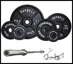 black olympic weight set includes