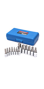CASOMAN 13 Piece Hex Bit Socket Set, S2 Steel Bit Socket Tool Kit, Metric, 2mm-14mm, Allen Bit