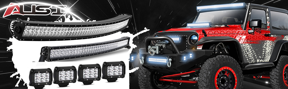"25/"" LED Light Bar Strobe Rocker Wire for Offroad Polaris Yamaha EZ-GO 12-24V"