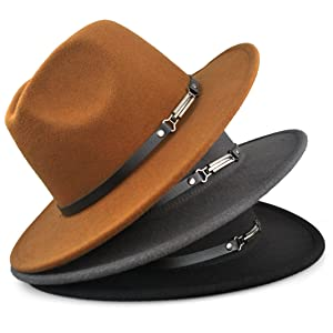 3b5c134c78395 Wide Brim Fedora Hat is a perfert accessory for all seasons. Stylish pinch  on the front