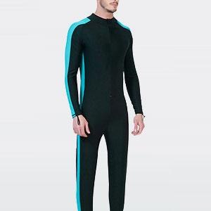 2598ae7b27 EVEDESIGN Men s Long Sleeve Full Body Wetsuit Premium Neoprene Printed Scuba  Rash Guard