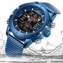 men's watch with dual time