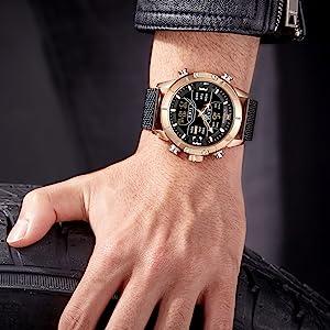 wrist armor analog digital watch men
