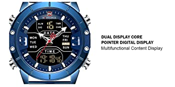 dual time mens watch