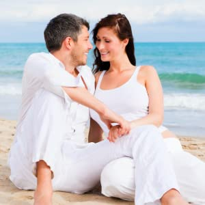 Loving couple enjoying special time on beach