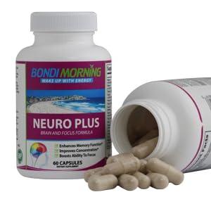 Neuro Plus open bottle showing pills