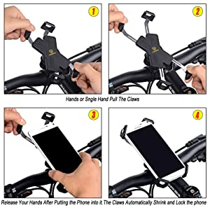 visnfa PB04-AC bike phone mount bicycle phone mount bike phone holder iphone bike accessories