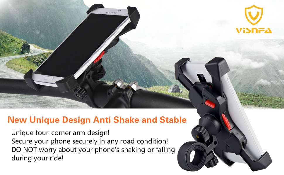 visnfa bike phone mount bicycle phone mount bike phone holder iphone holder mount bike accessories