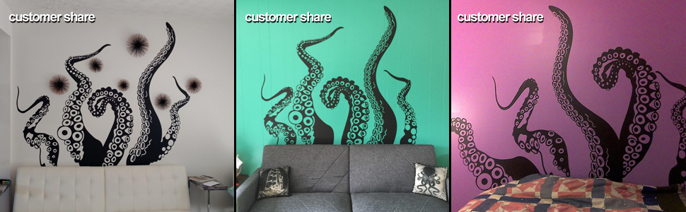 Picture Show of Tentacles Wall Decal & Amazon.com: Tentacles Wall Decal Kraken Octopus Tentacles Wall ...