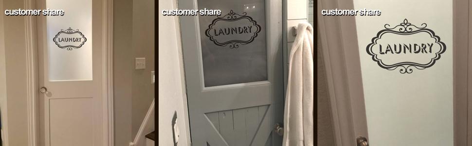 Laundry Vinyl Decal Laundry Room Decal Laundry Door Decal Glass Door Decal Small Black Amazon Com