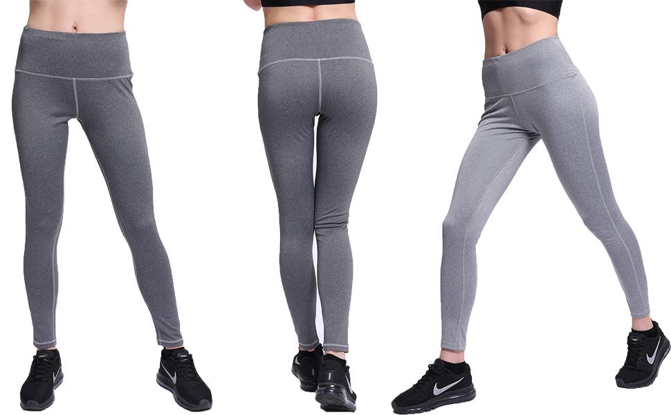 Amazon.com: NORMOV - Mallas de yoga de cintura alta con dos ...