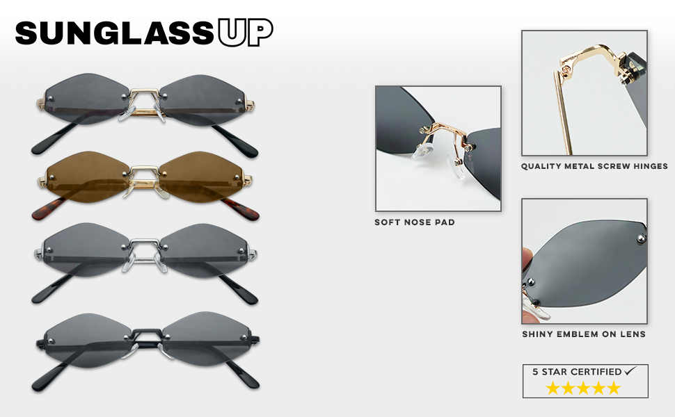3bb22c1fe49 90 S RIMLESS RETRO SHADES. These extremely small narrow color popping  rimless sunglasses ...