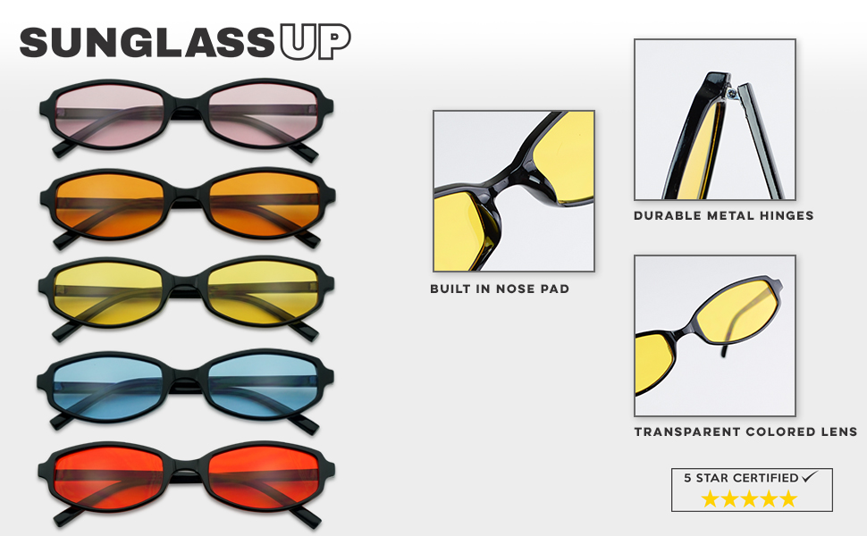 3a24357f04d RETRO IN COLOR. Fun Vintage 90 s sunglasses that are crafted with an ultra  slim skinny rim and geometric oval rectangular ...