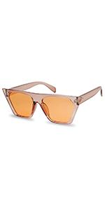 Amazon.com: SunglassUP - Gafas de sol finas metálicas con ...