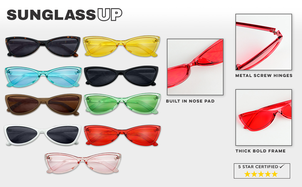 63747cf945e Crystal Candy Color Small Narrow Round Bow Tie Sunglasses Butterfly Style  Translucent Color Pop Glas