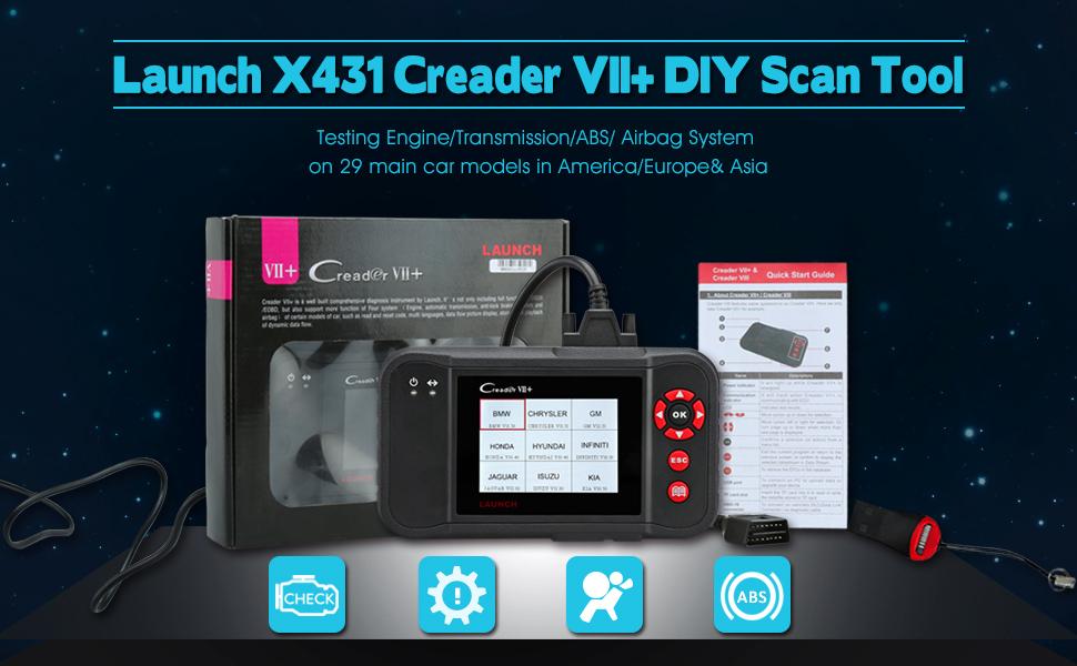 Launch X431 Creader VII+ CRP123 Auto Diagnostic Code Reader OBD2 Scanner  Scan Tool