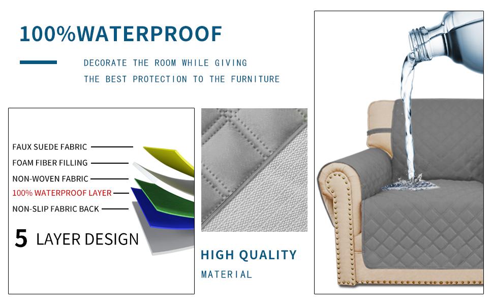 Amazon.com: Easy-Going 100% Waterproof Sofa Slipcover