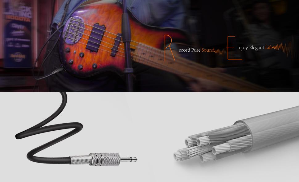 Amazon Com  Usb Guitar Cable Guitar Bass To Pc Usb