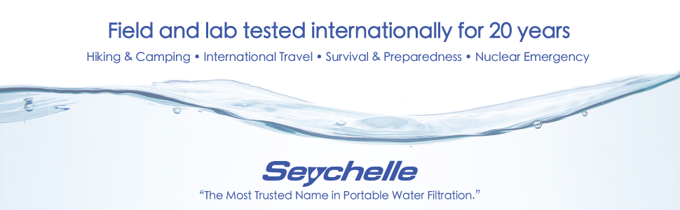 Seychelle water filtration systems have been tested in the USA, and 16 other countries for 20 years.