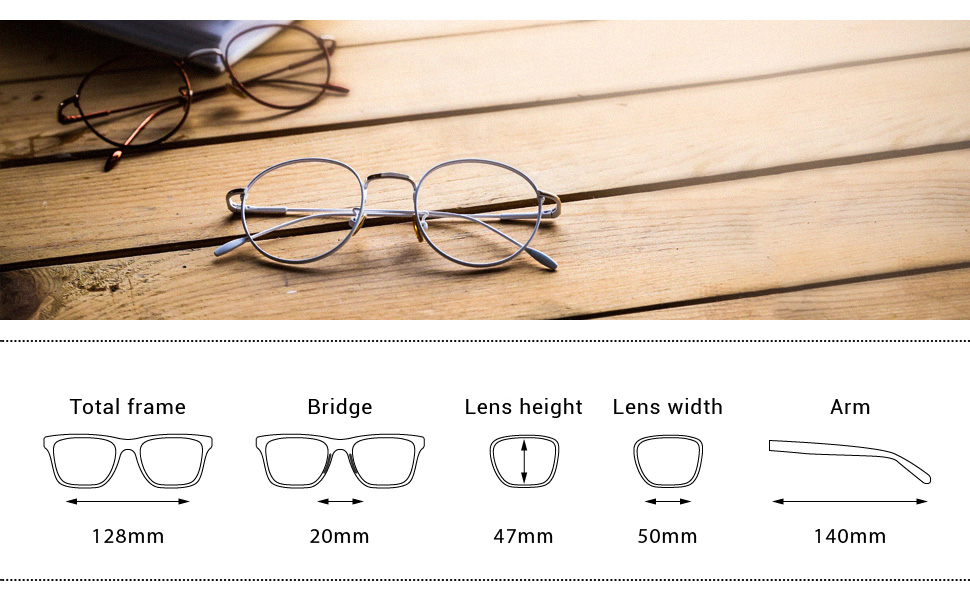 235edc39c5c3 Amazon.com  TIJN Women Metal Circle Eyeglasses Fashion Full Rim ...