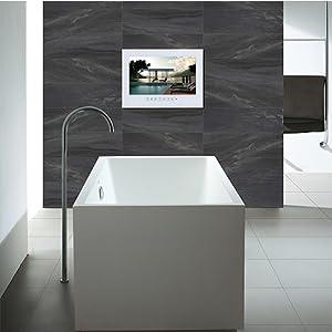 hotel bathroom tv