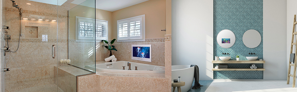 bathroom TV mount bathroom TV Shower