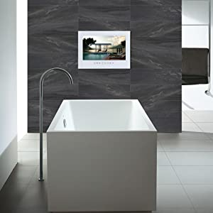 Amazon Com Soulaca 15 6inch Frameless Waterproof And Dustproof Tv For Bathroom Use T156fn Furniture Decor