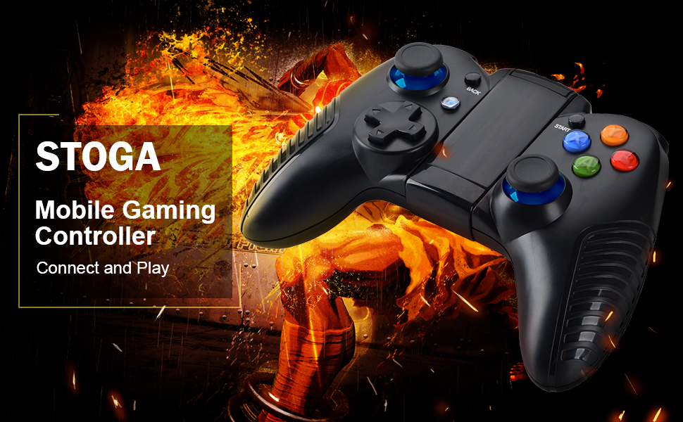 Mobile Game Controller, STOGA Wireless Controller Remote Gamepad Compatible  with IOS and Android