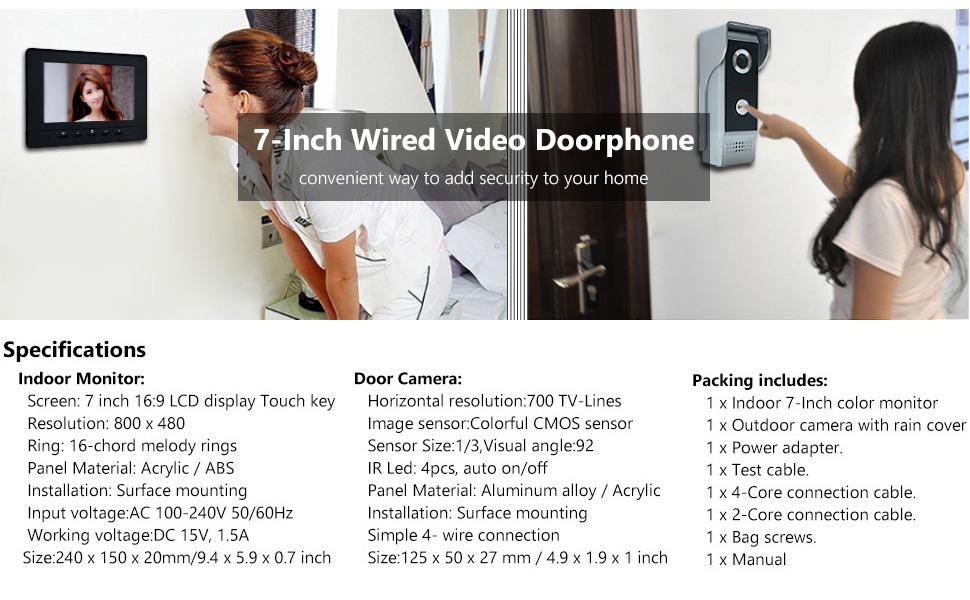7 inch video intercom