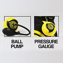 ball pump, pressure gauge