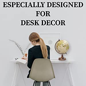 office desk decoration items womens office ideal decor for children travel freaks and homes this lovely globe will look chic on your office desk too amazoncom world globe 13
