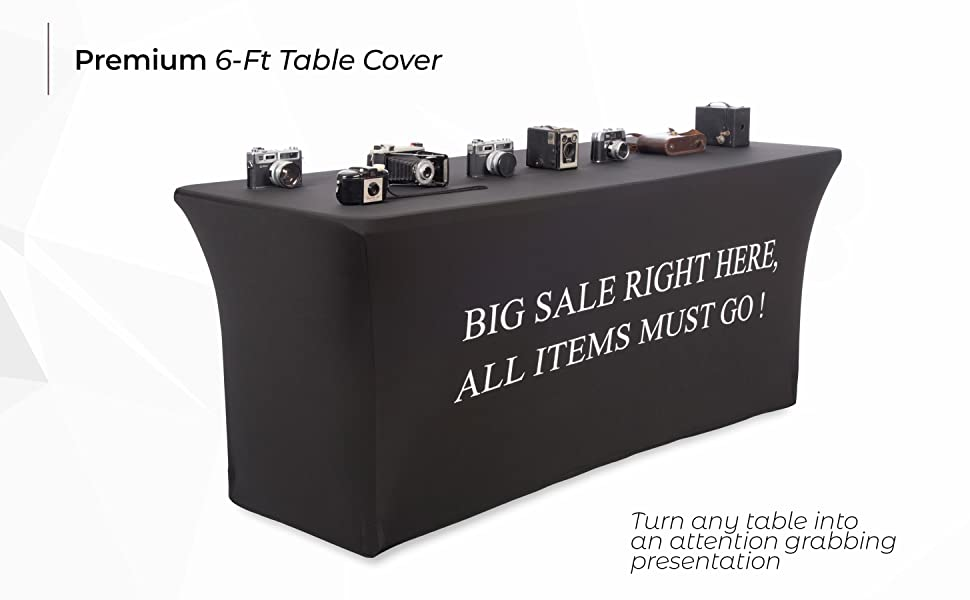 Besides being a sort of a marketing tool our table covers luxuriously remaster the classic tablecloth design into thicker heavier classier and more ...  sc 1 st  Amazon.com & Amazon.com: Buybility 6 Foot Black Spandex Table Cover Big Sale ...