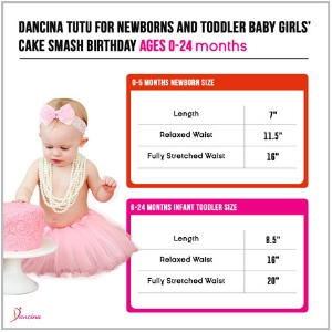 8f1a6adf520c0 Amazon.com: Dancina Tutu for Baby Girls Newborn Toddlers Cake Smash ...