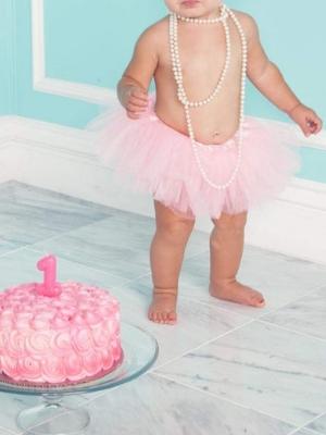 Dancina Tutu for Baby Girls Newborn Toddlers Cake Smash Birthday Ages 0-24 mo