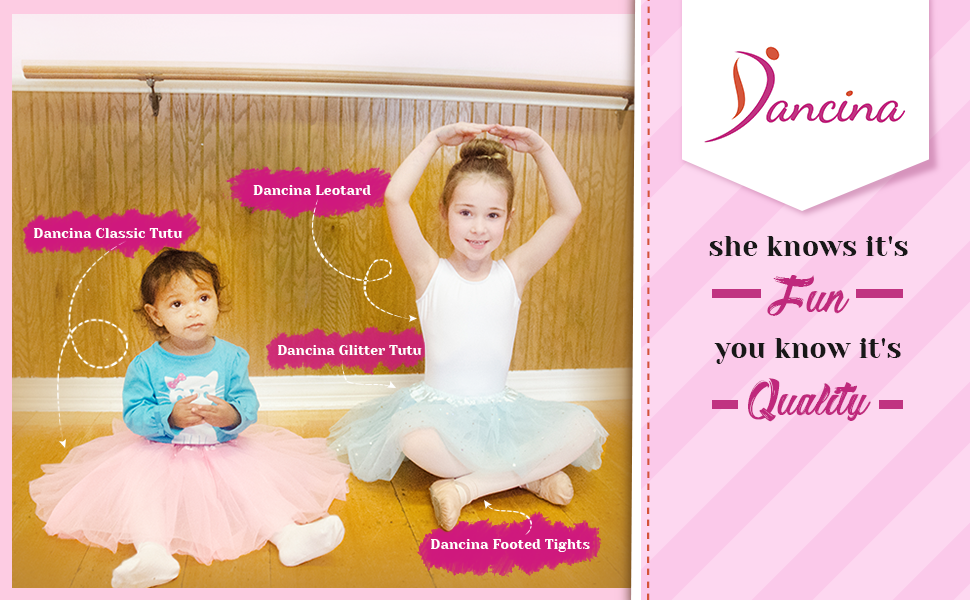 Dancina Sparkle Tutus for Girls 6 Months to 13 Years
