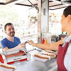 deli candery hot dog frank griller