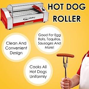 hot dog roller griller frank candery