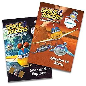 spaceracers coloring activity stem preschool mars