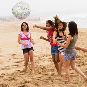 beach glitter ball pool inflatable party balls gold confetti pink inch giant jump toy summer