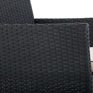 Amazon.com: Sofá de mimbre para patio, 4 piezas, juego de ...
