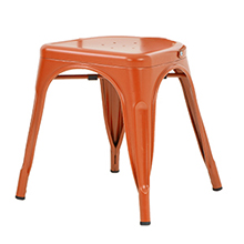 Metal chair stackable chair