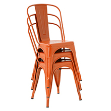 Metal chair stackable chair restaurant chairs1