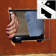 Put the cat door in the door