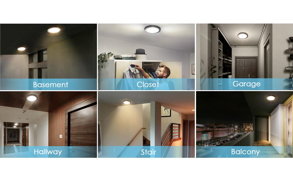 Albrillo Led Ceiling Light Motion Sensor 1200lm 100w
